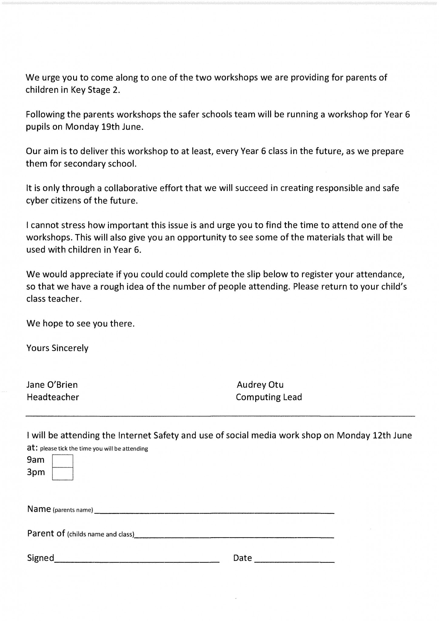 Whole School Letters | St Mary's Church of England Primary
