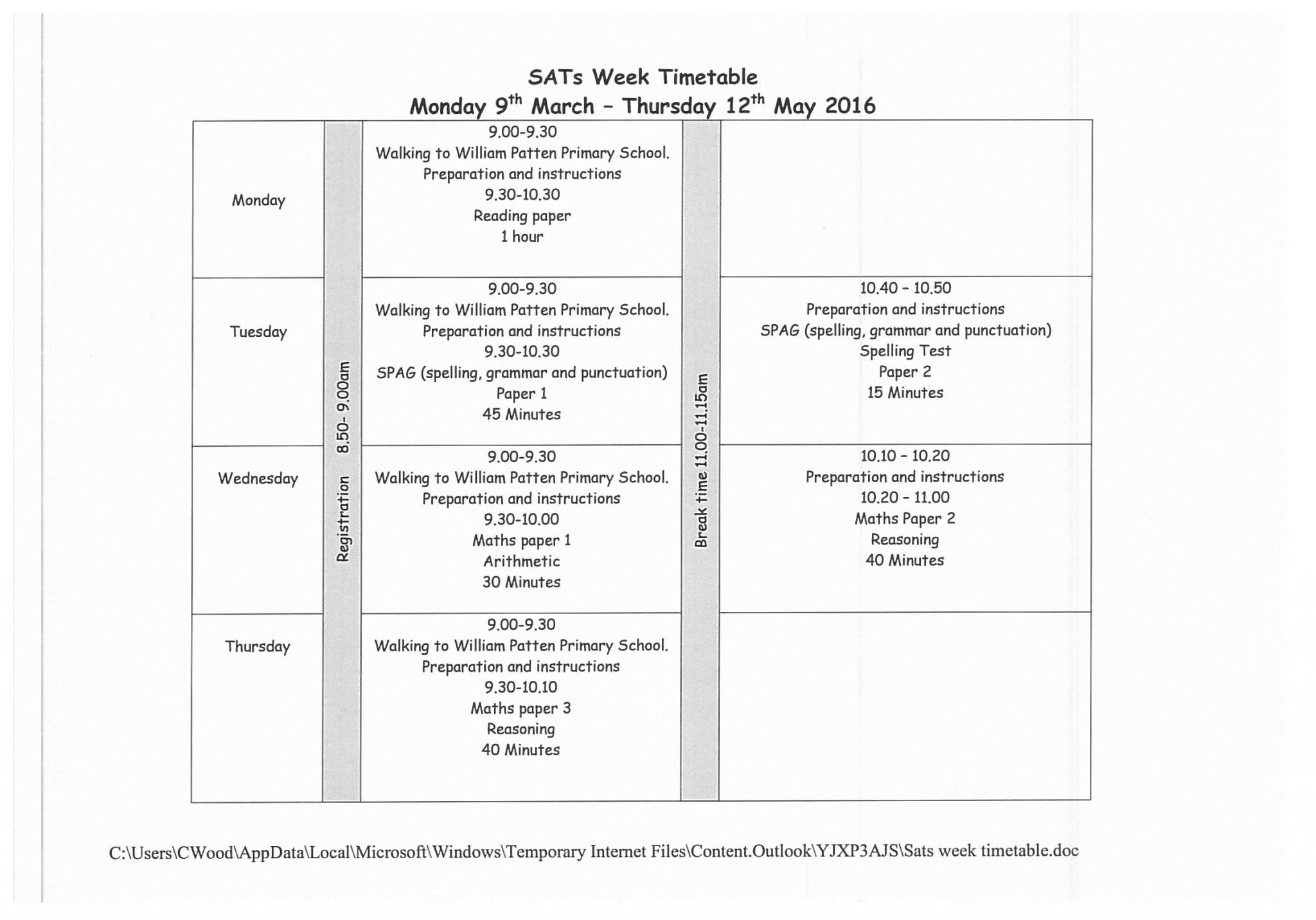 SATS week Yr6