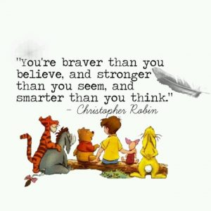 Week 2 quote - Thursday Winnie the Pooh day!