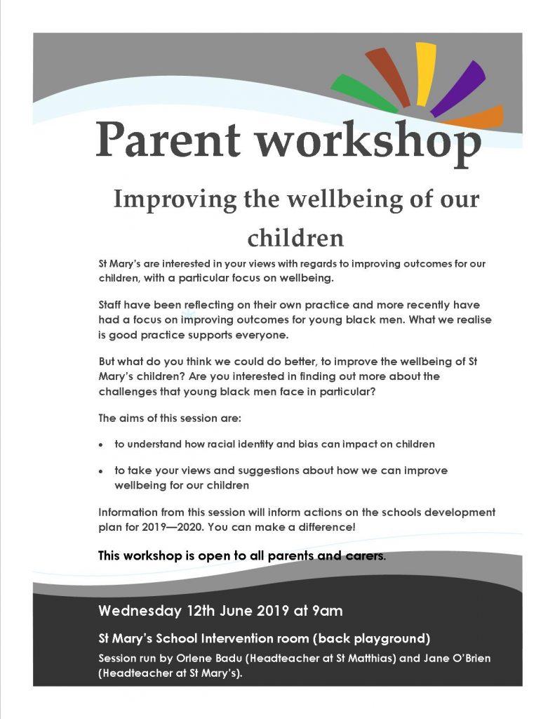 Flyer for parent workshop